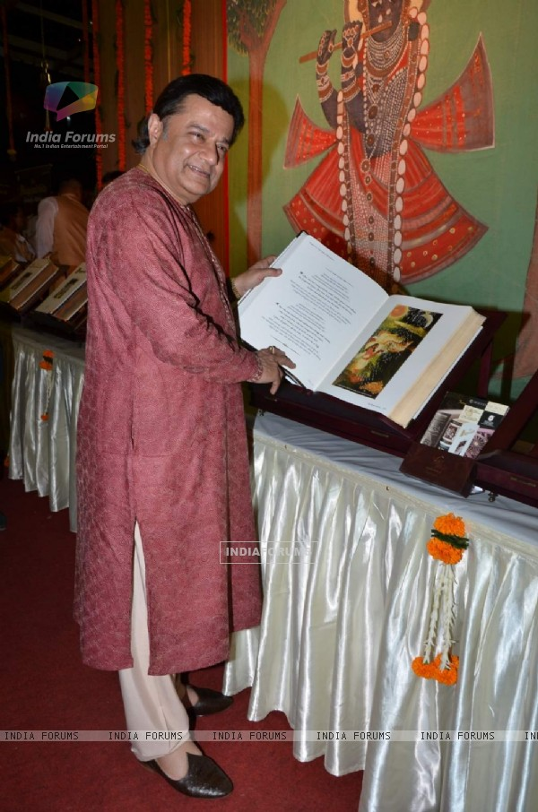 Anup Jalota at Launch of Signature Edition of 'Bhagvad Gita'