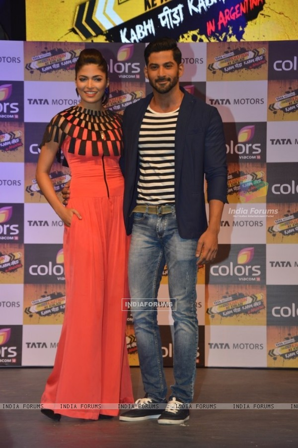 Parvathy Omanakuttan and Vivan Bhathena at the Launch of Khatron Ke Khiladi 7