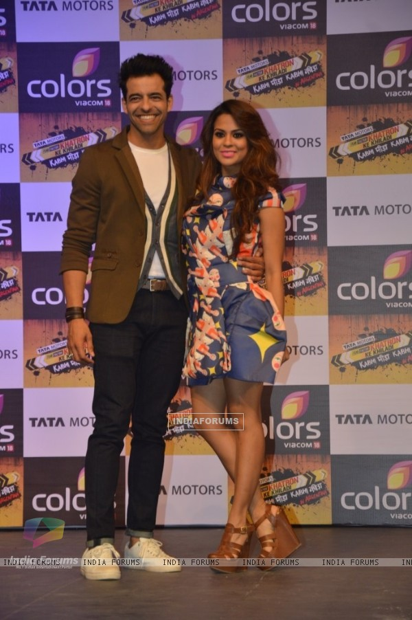 Himanshoo Malhotra and Sana Saeed at the Launch of Khatron Ke Khiladi 7
