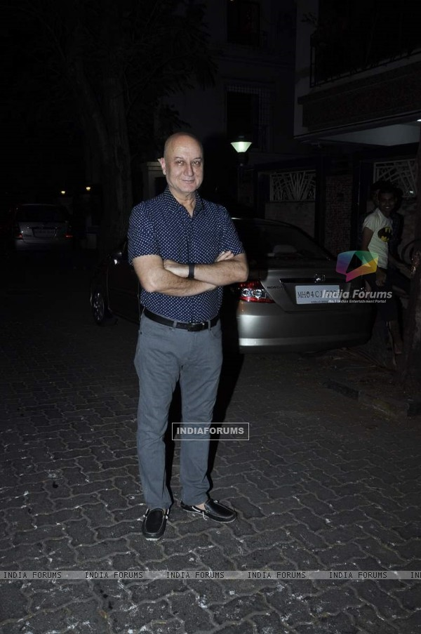 Anupam Kher was at Karva Chauth Celebrations at Anil Kapoor's Residence
