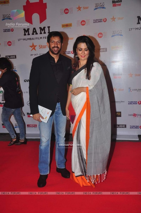 Kabir Khan poses with wife Mini Mathur at MAMI Film Festival Day 1