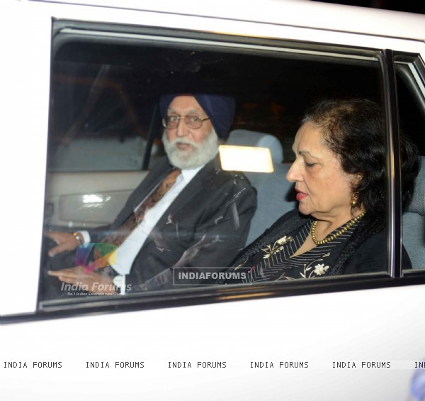 K P S Gill at Harbhajan Singh - Geeta Basra Wedding Reception