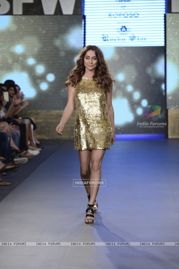 Anusha Dandekar Walks the Ramp at India Beach Fashion Week Day 2
