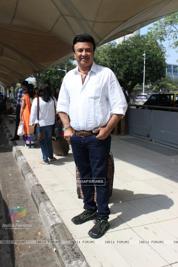 Anu Malik Snapped at Airport