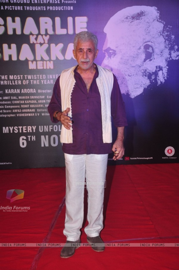 Naseeruddin Shah at Press Meet of  Charlie Ke Chakkar Mein