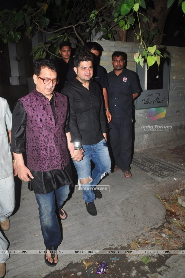 Sajid Nadiadwala and Dabboo Ratnani at Exceed Entertainment's Diwali Bash