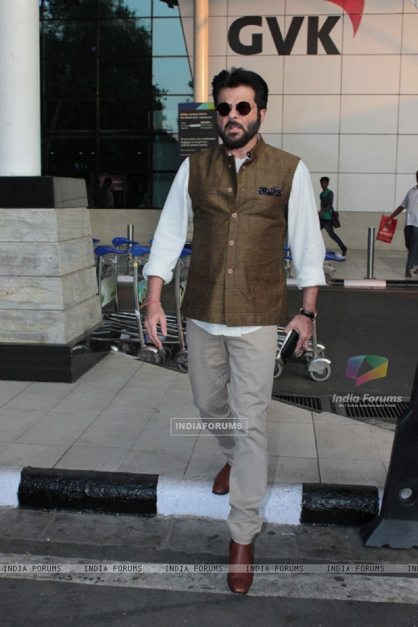 Anil Kapoor Snapped at Airport