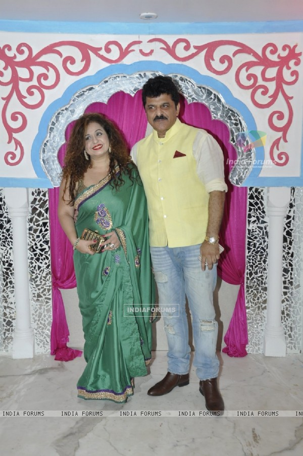 Rajesh Khattar and Vandana Sajnani at Sachin Joshi's Diwali Bash