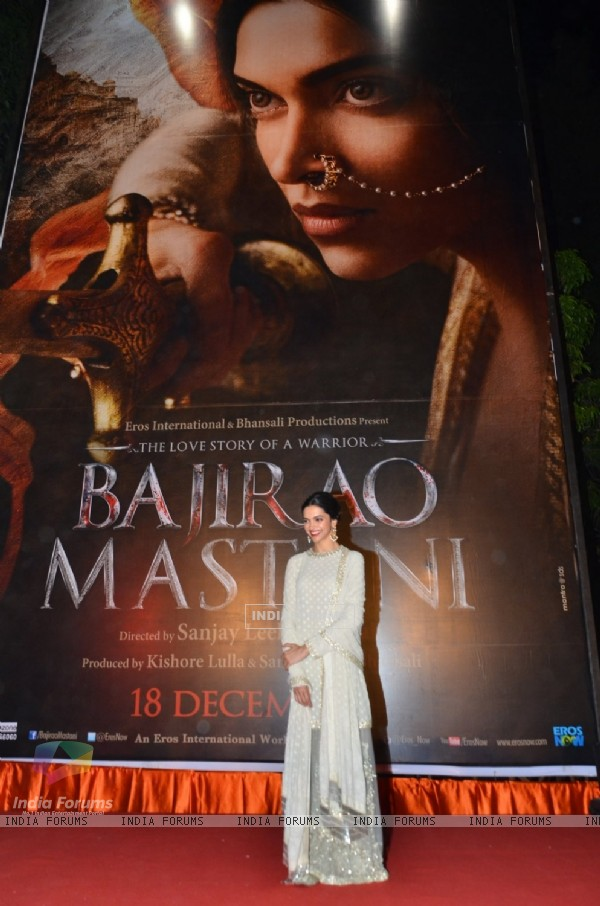 Deepika Padukone at Poster Launch of Bajirao Mastani
