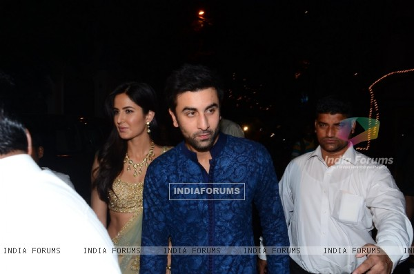 Ranbir Kapoor and Katrina Kapoor at Anil Kapoor's Diwali Bash