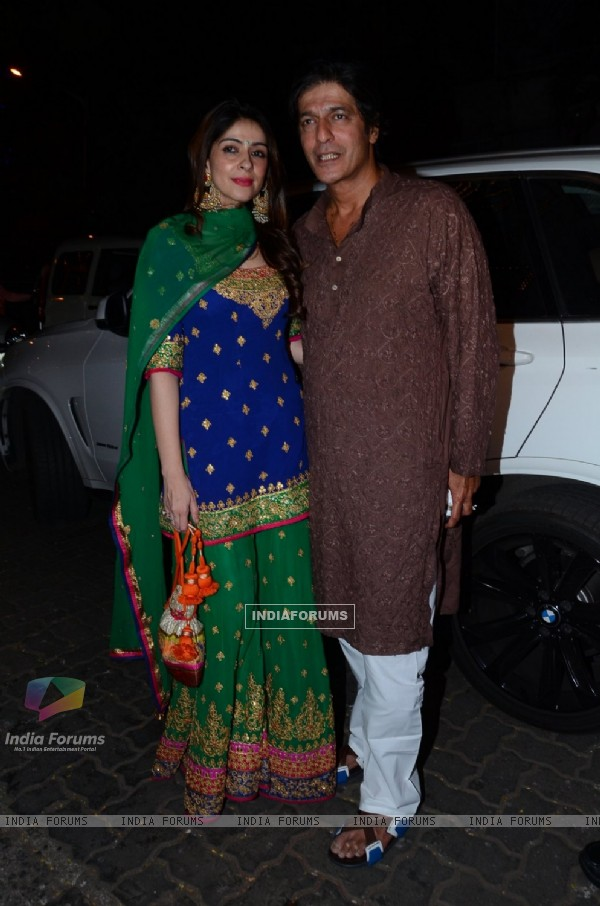 Chunky Pandey and Bhavana Pandey at Anil Kapoor's Diwali Bash