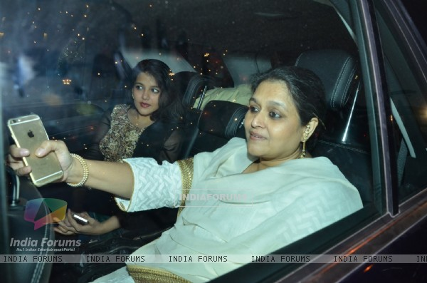 Supriya Pathak and Sanah Kapoor at Big B's Diwali Bash