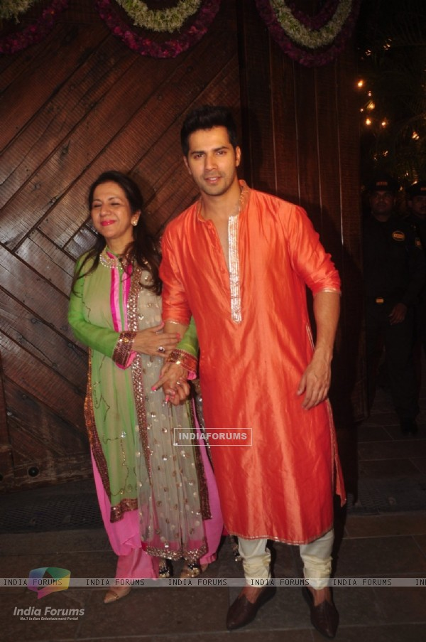 Varun Dhawan at Big B's Diwali Bash