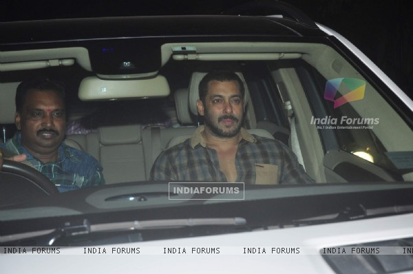 Salman Khan at Screening of 'Prem Ratan Dhan Payo'