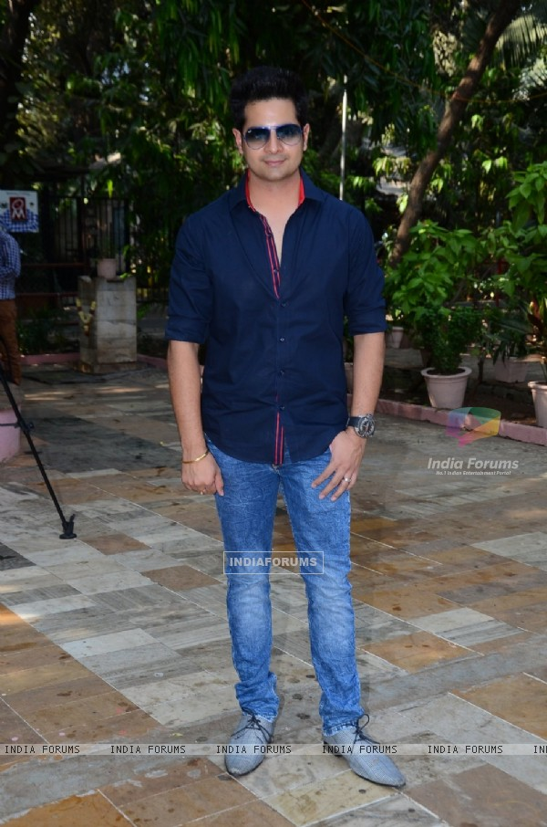 Karan Mehra poses for the media at Kids Diwali Celebrations