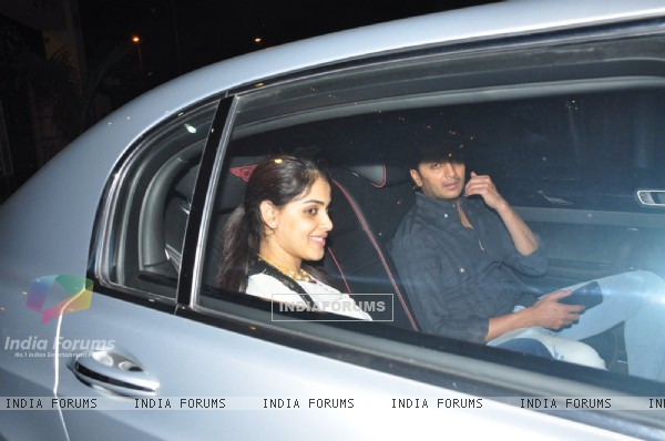 Riteish Deshmukh and Genelia Dsouza at Sania Mirza's Birthday Bash