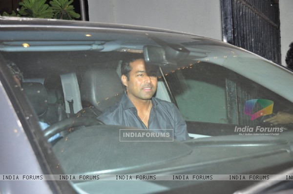 Leander Paes at Sania Mirza's Birthday Bash