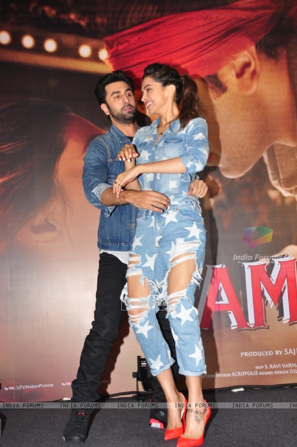 Ranbir and Deepika at Launch of 'Tamasha Chemistry Meter'