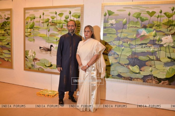 Jaya Bachchan at an Art Exhibition