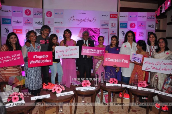 Celebs at Pinkathon Press Meet