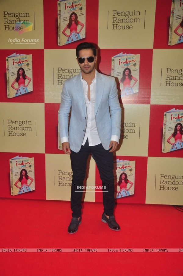 Varun Dhawan at Launch of Shilpa Shetty's Book 'The Great Indian Diet'