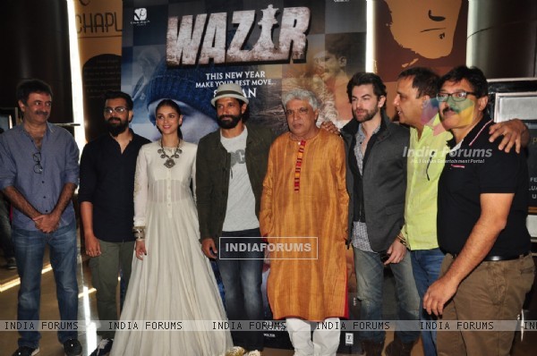 Celebs at Trailer Launch of 'Wazir'