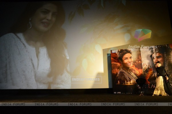 Priyanka Chopra attended Trailer Launch of 'Bajirao Mastani' through video-conferencing