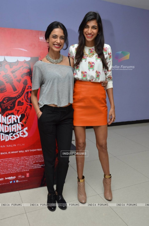 Sarah Jane Dias and Anushka Manchanda at Press Meet of Angry Indian Goddesses