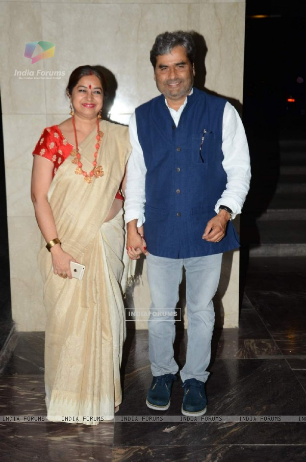 Vishal and Rekha Bhardwaj at Masaba Gupta's Wedding Reception