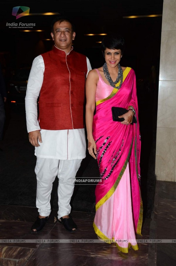 Mandira Bedi and Raj Kaushal at Masaba Gupta's Wedding Reception