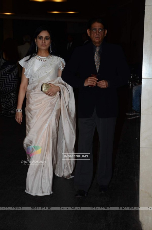 Padmini Kolhapure at Masaba Gupta's Wedding Reception