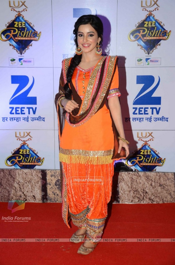 Ankita Sharmaa at Zee Rishtey Awards 2015