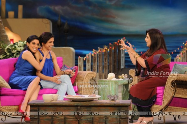 Asin and Deepika with Farah Khan