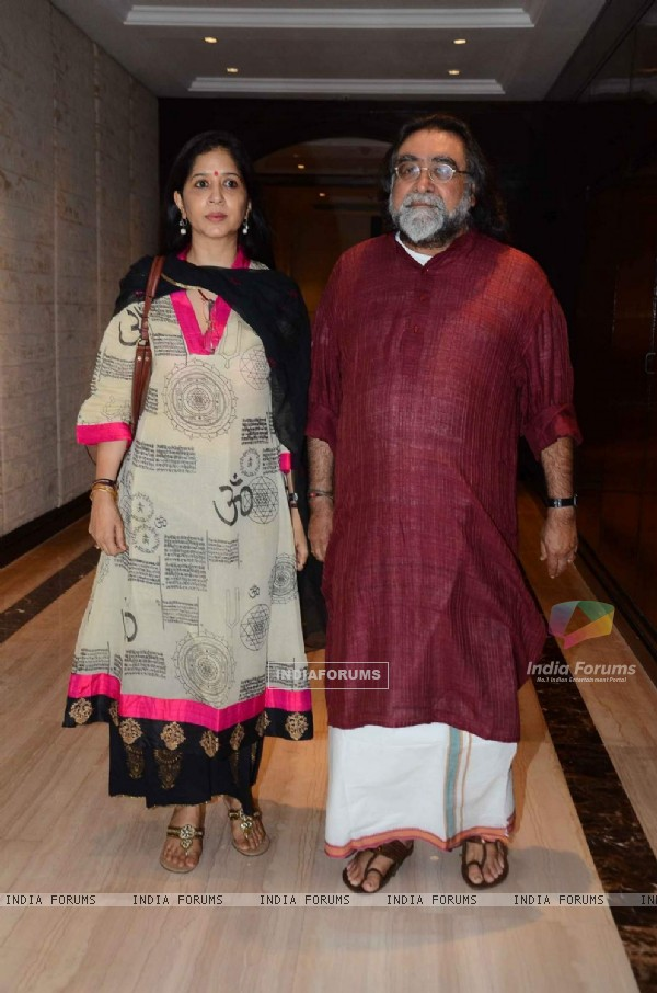 Prahlad Kakkar with wife Mitali Dutt Kakkar at Launch of Yes Bank Book 'Coffee Table'