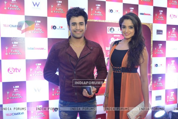 Pearl Puri and Asmita Sood at 14th Indian Telly Awards Nomination Ceremony