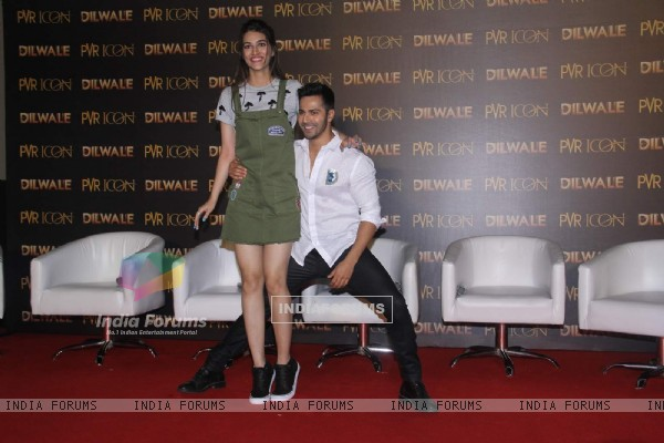 Handsome Varun Dhawan and Pretty Kriti Sanon at Launch of 'Manma Emotion Jaage' Song