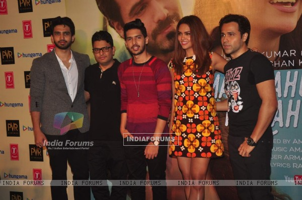 Armaan and Amaal Malik, Bhushan Kumar, Emraan and Esha at Launch of 'Main Rahoon Ya Na Rahoon' Song