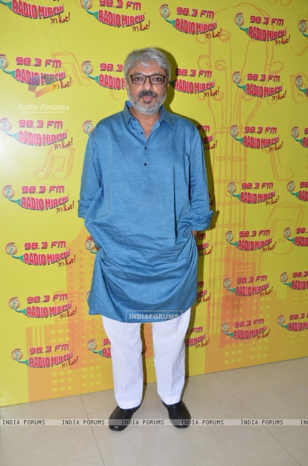 Sanjay Leela Bhansali for Promotions of Bajirao Mastani at Radio Mirchi
