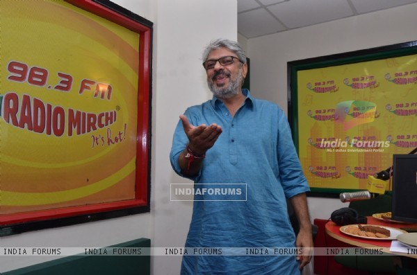 Sanjay Leela Bhansalui for Promotions of Bajirao Mastani at Radio Mirchi