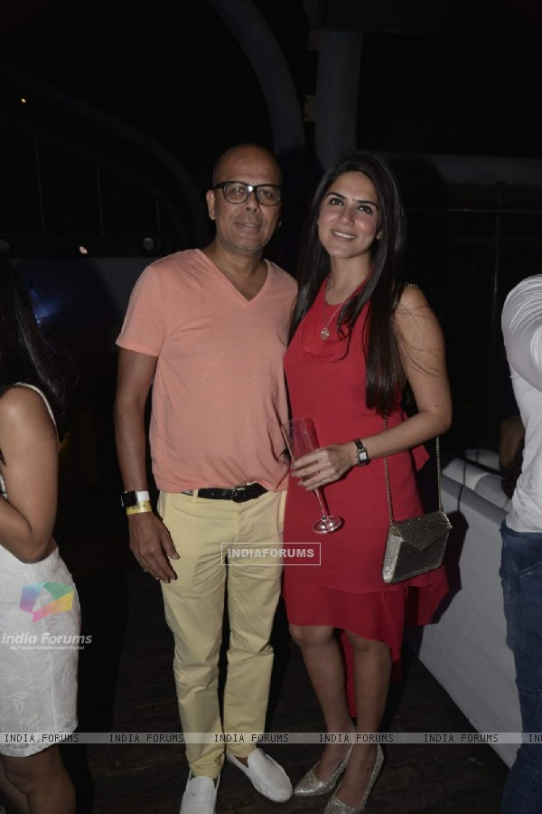 Narendra Kumar with a friend at Couture Cabana Event at Asilo
