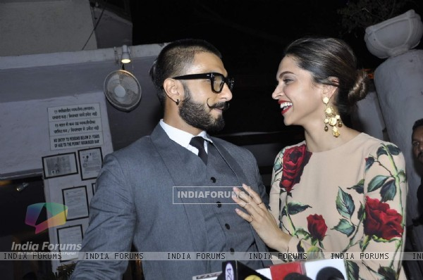 Ranveer Singh and Deepika Padukone at Success Bash of 'Tamasha'