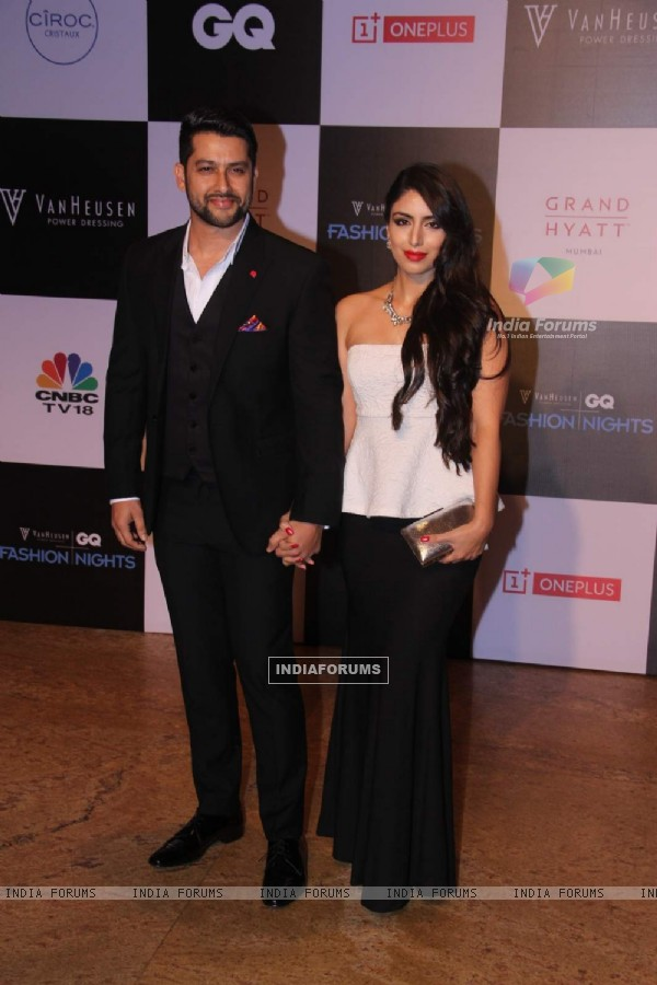 Aftab Shivdasani and Nin Dusanj at GQ Fashion Night