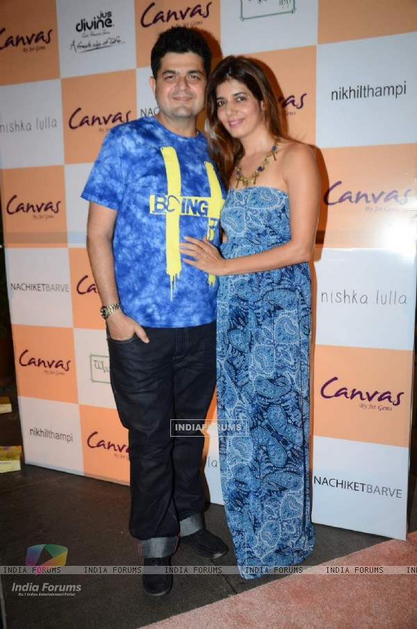 Dabboo Ratnani with hi wife at Launch of Canvas by Jet Gems