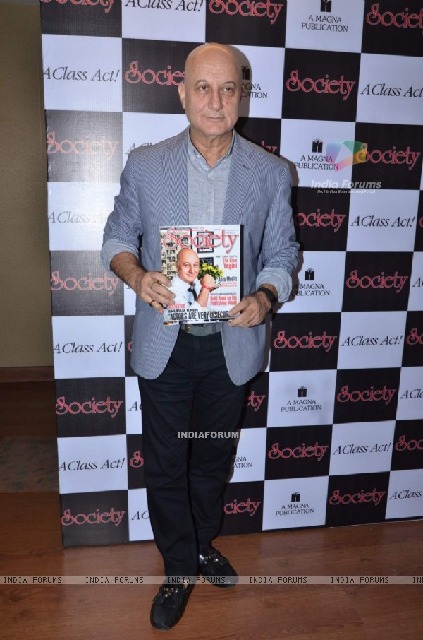 Anupam Kher at Cover Launch of Society Magazine