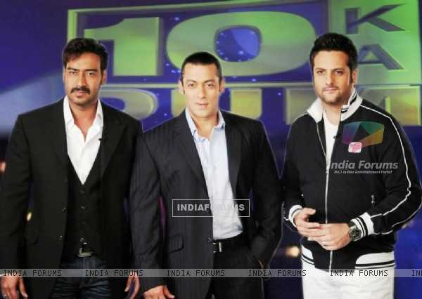 Salman Khan with Ajay Devgan and Fardeen Khan