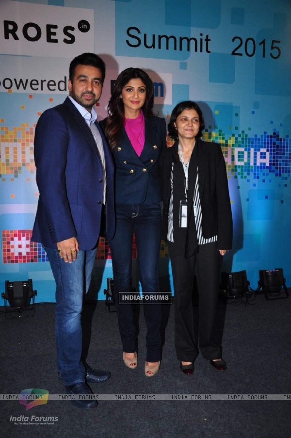 Raj Kundra and Shilpa Shetty at 'Sheroes' Summit 2015