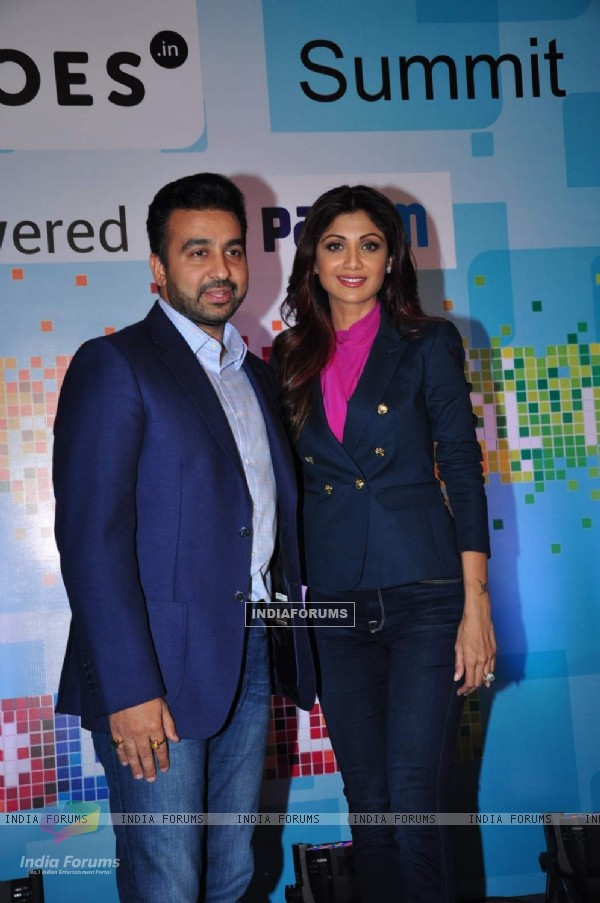 Shilpa Shetty and Raj Kundra  at 'Sheroes' Summit 2015