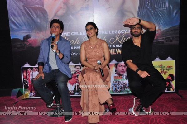 Shah Rukh Khan, Kajol and Rohit Shetty at 2nd Trailer Launch of 'Dilwale'