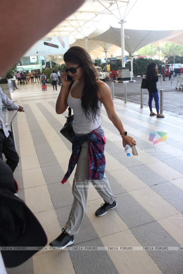 Jacqueline Fernandes was snapped at Airport