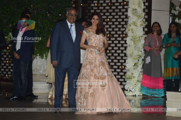 Boney Kapoor and Sridevi at Mukesh and Nita Ambani's Bash